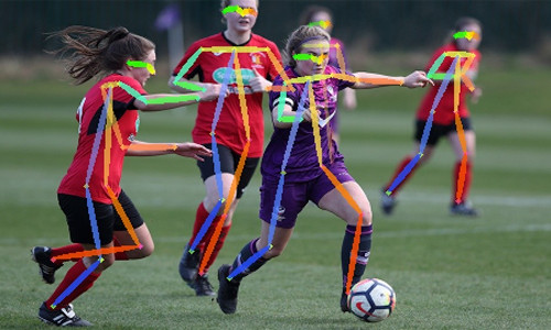 Artificial intelligence technology being used on soccer players to better evaluate their performance.